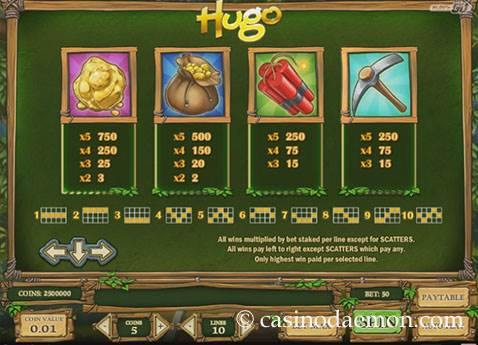 Hugo slot screenshot 4