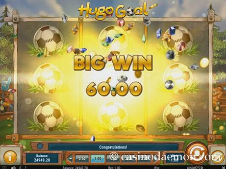 Hugo Goal slot screenshot 2