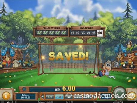 Hugo Goal slot screenshot 3
