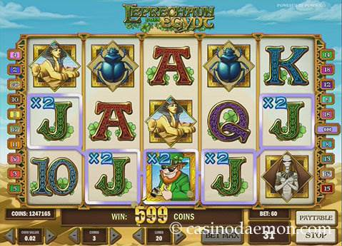 Leprechaun Goes Egypt Spielautomat screenshot 1