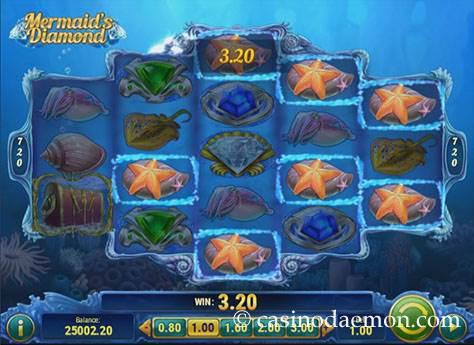 Mermaid's Diamond Spielautomat screenshot 1