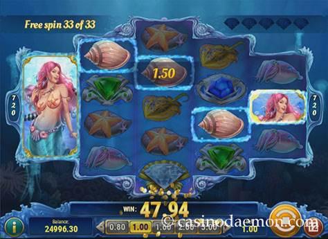 Mermaid's Diamond slot screenshot 2
