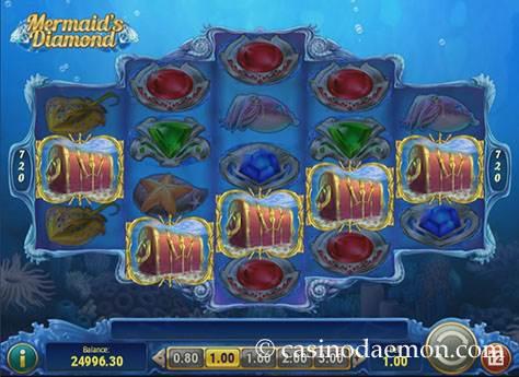 Mermaid's Diamond slot screenshot 3