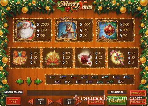 Merry Xmas slot screenshot 4