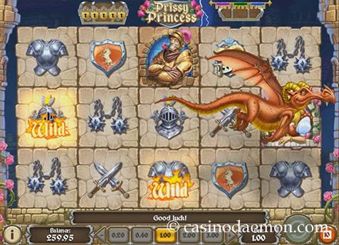 Prissy Princess slot screenshot 1