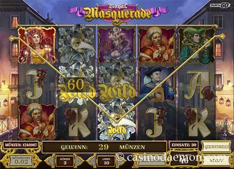 Royal Masquerade Spielautomat screenshot 1