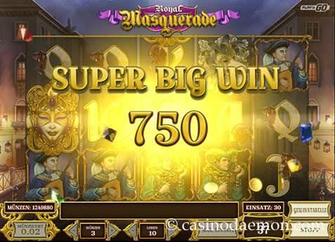 Royal Masquerade Spielautomat screenshot 2