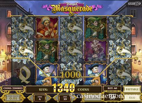 Royal Masquerade slot screenshot 1