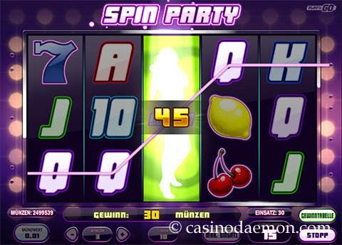 Spin Party Spielautomat screenshot 2