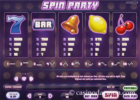 Spin Party slot screenshot 4