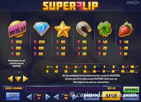 Super Flip Spielautomat screenshot 4