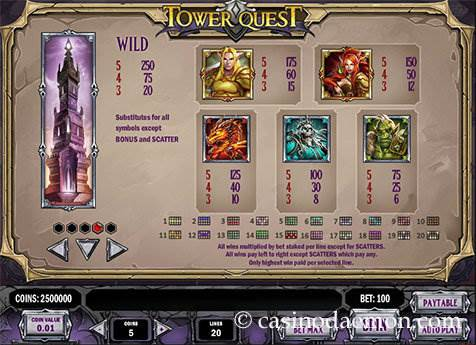 Tower Quest slot screenshot 4