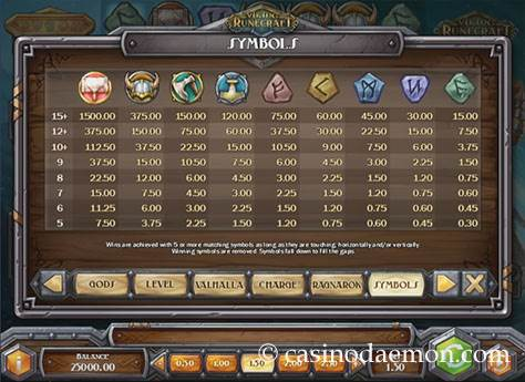 Viking Runecraft Spielautomat screenshot 4