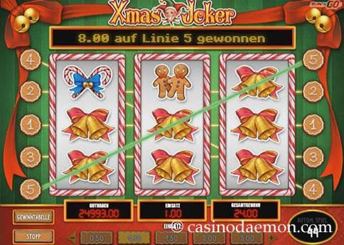 Xmas Joker Spielautomat screenshot 1