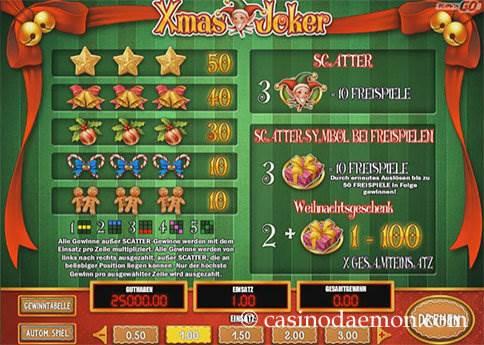 Xmas Joker Spielautomat screenshot 4