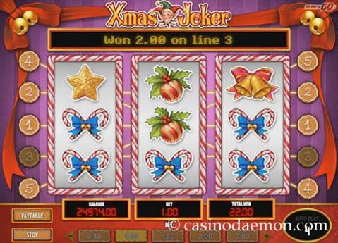 Xmas Joker slot screenshot 1