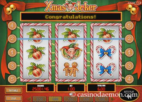 Xmas Joker slot screenshot 3