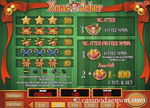 Xmas Joker slot screenshot 4