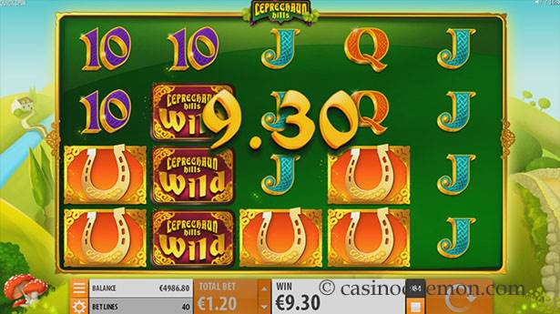 Leprechaun Hills Spielautomat screenshot 1