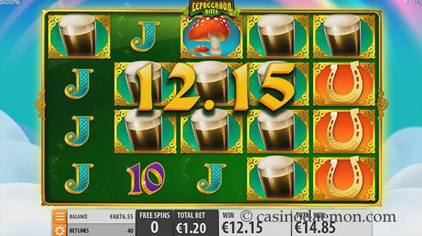 Leprechaun Hills Spielautomat screenshot 2
