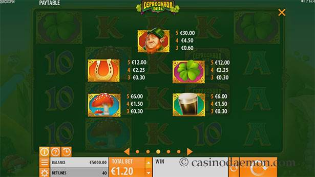 Leprechaun Hills Spielautomat screenshot 4
