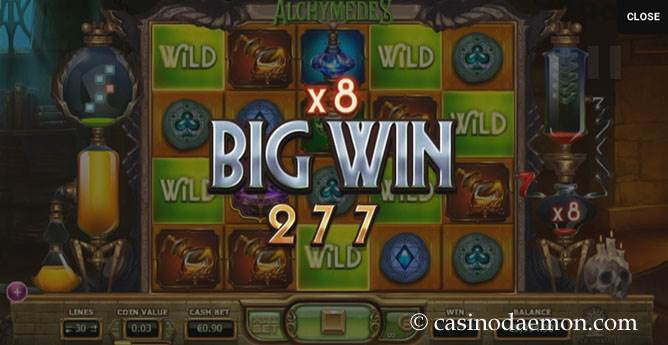 Alchymedes slot screenshot 1