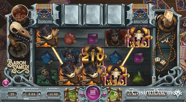 Baron Samedi slot screenshot 1