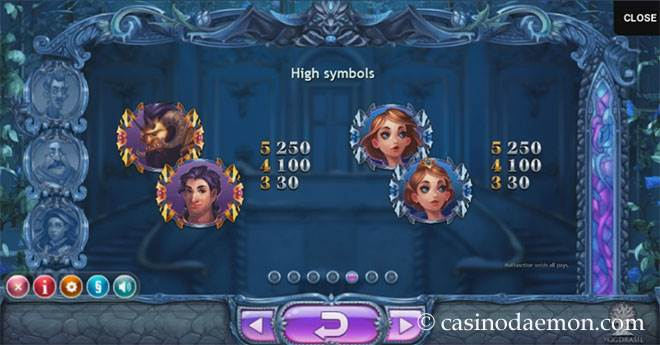 Beauty & The Beast Spielautomat screenshot 4