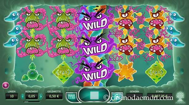 Cyrus the Virus Spielautomat screenshot 2