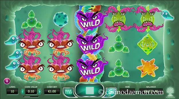 Cyrus the Virus slot screenshot 1