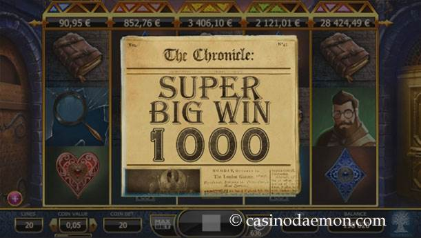 Holmes and the Stolen Stones slot screenshot 1