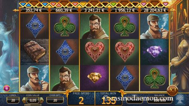 Holmes and the Stolen Stones slot screenshot 2