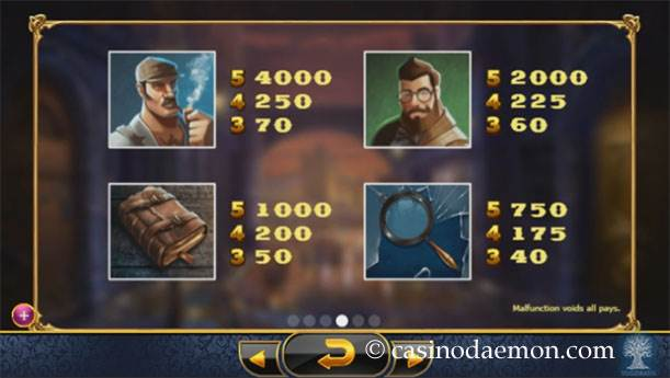 Holmes and the Stolen Stones slot screenshot 4