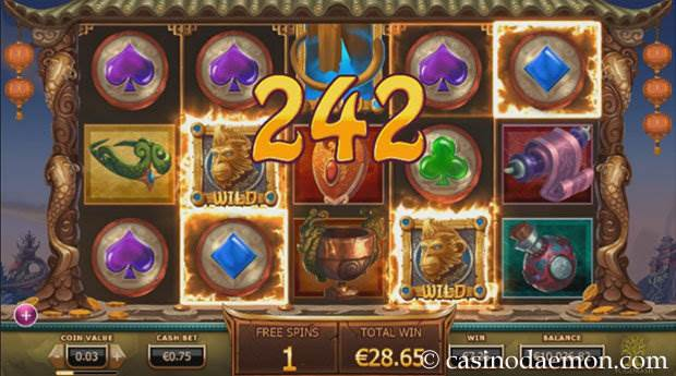 Legend of the Golden Monkey Spielautomat screenshot 2