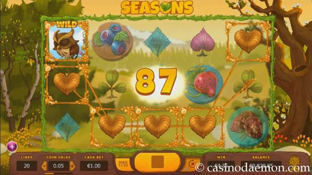 Seasons slot screenshot 1