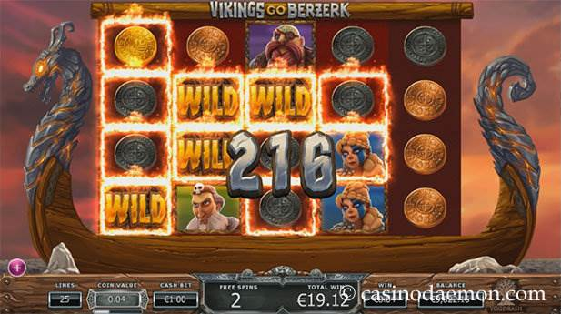 Vikings Go Berzerk Spielautomat screenshot 2
