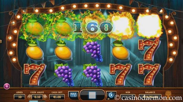 Wicked Circus Spielautomat screenshot 2